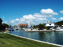 West basin entrance - Pasadena Marina St Petersburg Florida